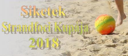 Siketek Strandfoci Kupája 2018