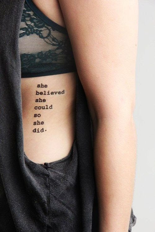 20 Girl Quote Tattoos You May Love Pretty Designs