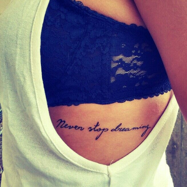 Girl Quote Tattoos On Ribs