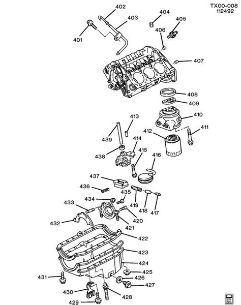 ENGINE ASM-4.3L V6 PART 4 OIL PUMP,PAN & RELATED PARTS