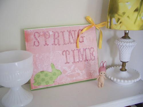Pretty Spring Shelf