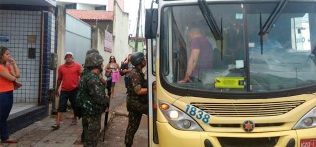 Forças Armadas asseguram circulação de ônibus em Natal