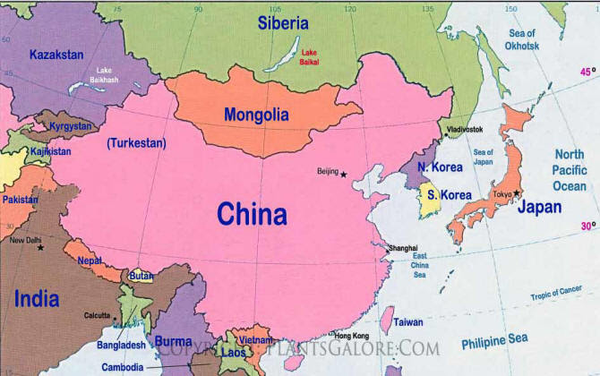 Map Asia East