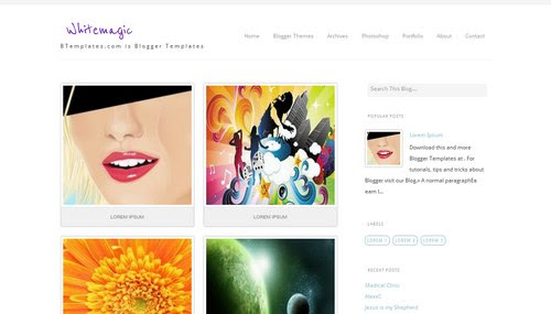 """Whitemagic"" Photography Blog Templates Free + Cool Design"