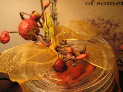 Autumn jar topper
