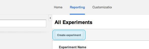 Create experiment