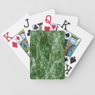 Green Water Bicycle Poker Cards