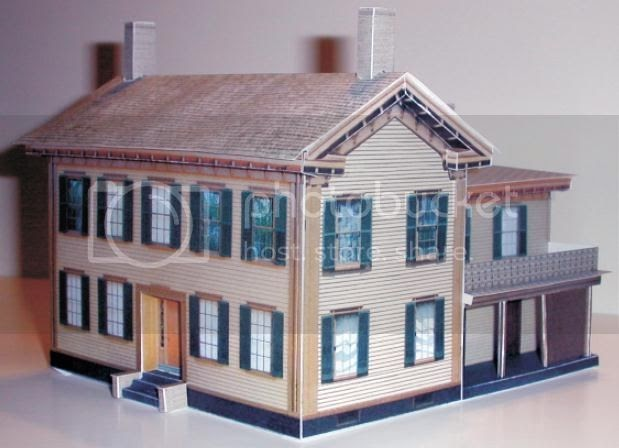 how to make a model house out of paper