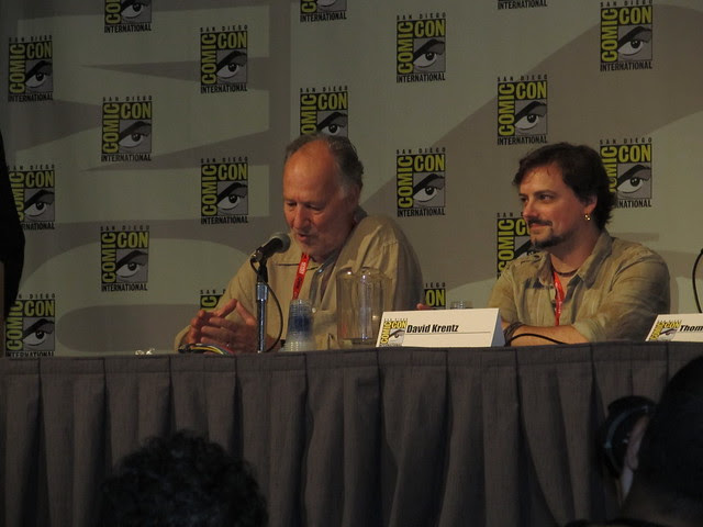 Surprise appearance by Werner Herzog at Reign of the Dinosaurs panel