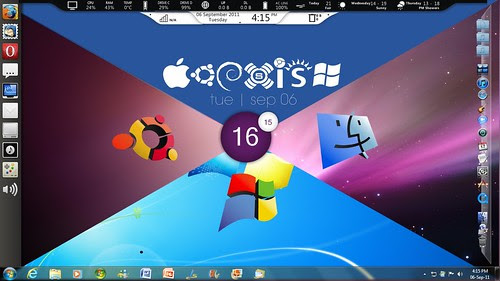 OS war concept desktop by azad_aquib