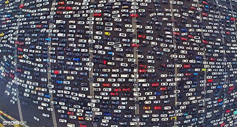 China has some of the most insane traffic jams on this planet