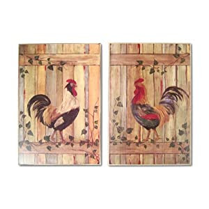 Amazon.com: Southern Enterprises ST0774WR Set of Two Rooster ...