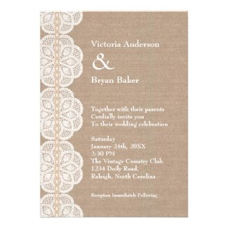 Vintage Doily Wedding Invitation