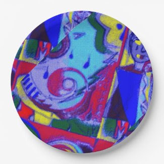 Fun Abstract Art on Paper Plates