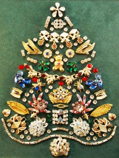 Christmas Vintage Jewellery Kaleidoscope Effect
