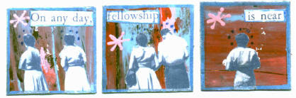 On any day, fellowship is near.  One Inch Set
