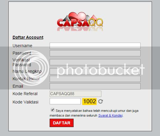 Formulir Daftar CapsaQQ