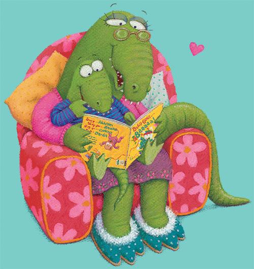 A memorable moment of reading / Un momento de lectura…inolvidable (ilustración de Lynne Chapman)