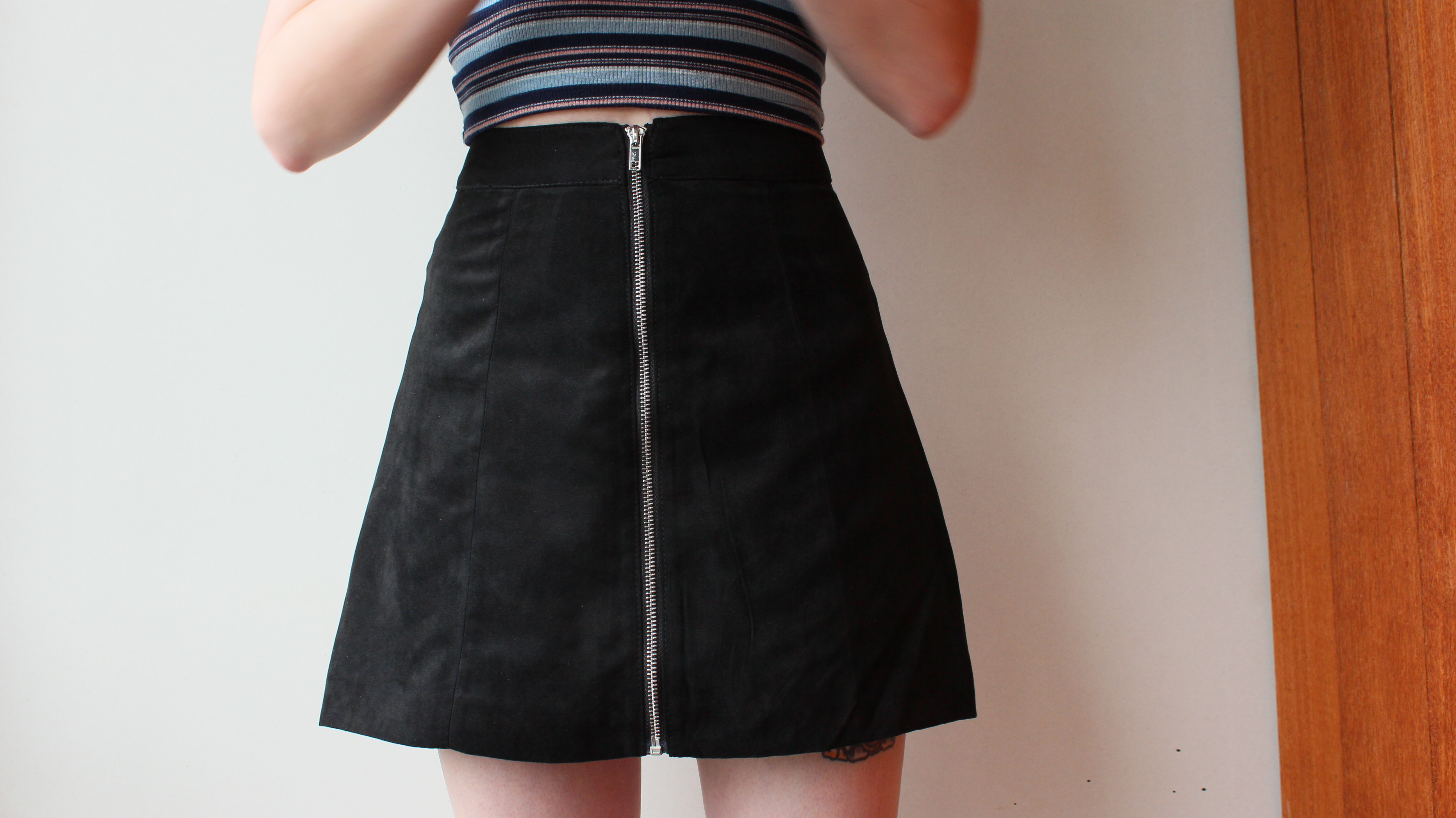 H&M zip down aline skirt