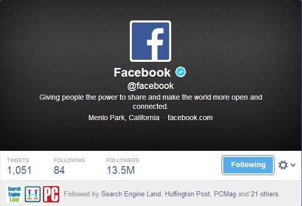 Facebook on Twitter