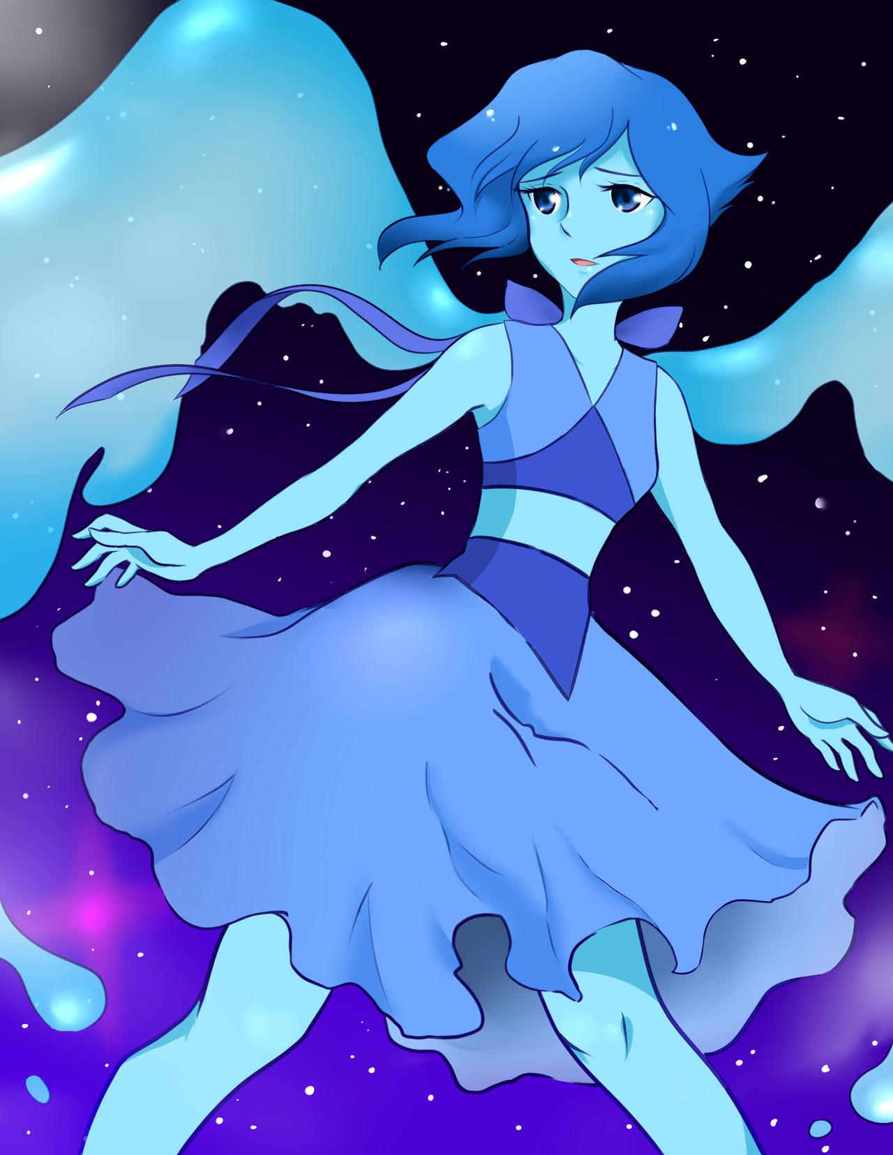 A Lapis Lazuli print I'll be selling at Minicomi and SFU Summer Festival in 2018 :D Please come by those two events in July if you have time! Admissions is free and there will be a ton of cool artists...