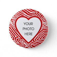 Scribbleprint Heart Border Button Template button