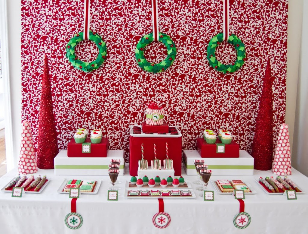 Lets Party Super Cute Green And Red Christmas Party Idea Tammy