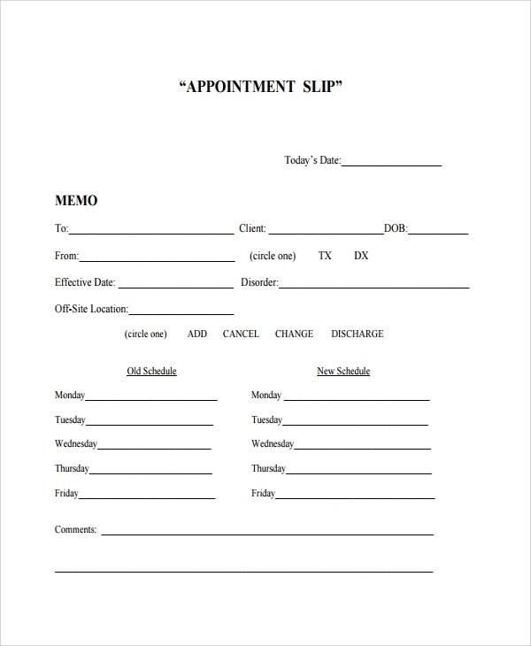 Business Appointment Card Template