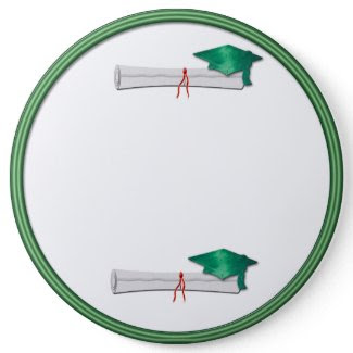 Add Your Own Text Green Graduation Button button