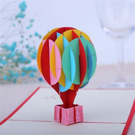 10pcs 3D Creative Hot Air Balloon Handmade Kirigami