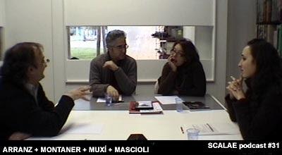 Josep María Montaner y Zaida Muxí en el Centro de Enlace AE BCN, para un episodio podcast de SCALAE