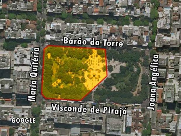 Mapa 3 Nossa Senhora da Paz (Foto: Editoria de Arte)
