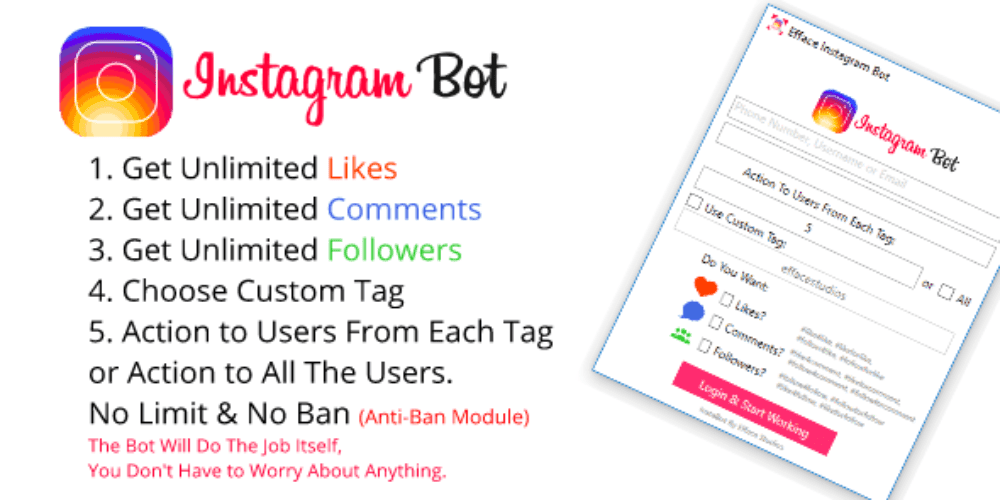 Unlimited Followers Instagram Bot - Hack Followers Instagram