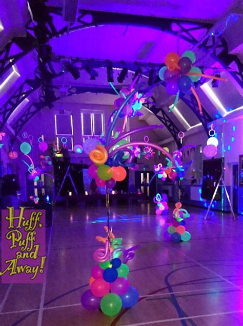 Huff Puff Balloons » Neon decor by Huff, Puff and Away!
