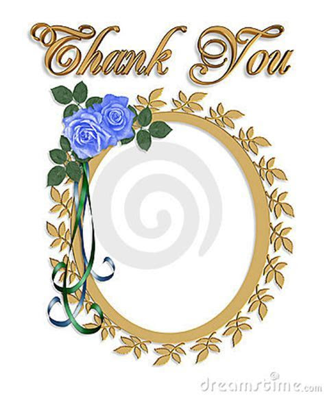 Thank You Card With Wedding Frame Stock Photo   Image: 7850620