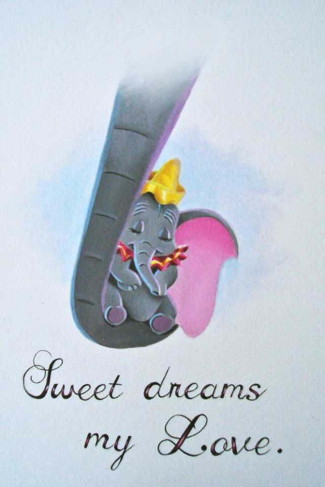 Classic Disney Images Dumbo Sweet Dreams My Love Hd Wallpaper And