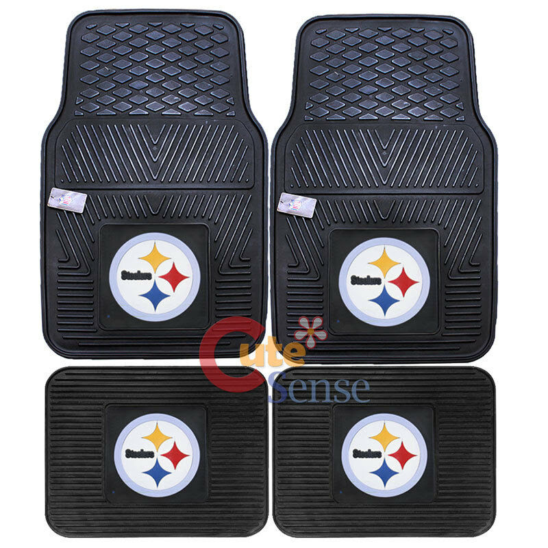 Pittsburgh Steelers Car Floor Mat 4pc Utility Fanmats NFL Auto Accessories eBay