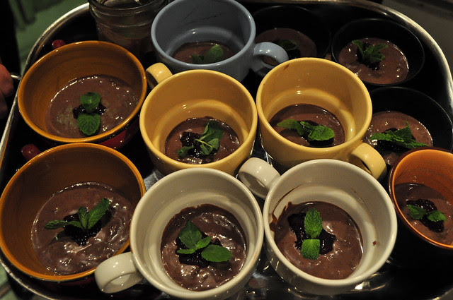 cherry-mint chocolate pudding