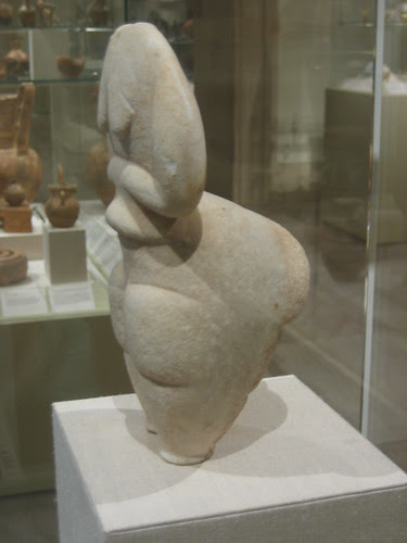 Marble femal figure, Cycladic, Final Neolithic, c. 4500-4000 B.C. _8223