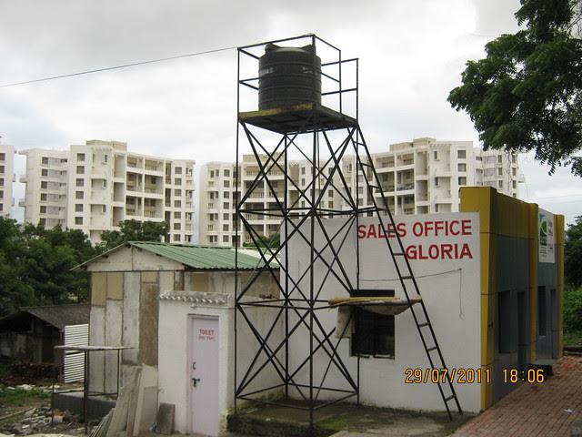 Sales Office of Paranjape Schemes' Gloria Grace, 2 BHK & 3 BHK Flats, at Bavdhan, on Paud Road, Kothrud Annexe, Pune