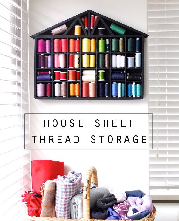 Thread storage shelf makeover
