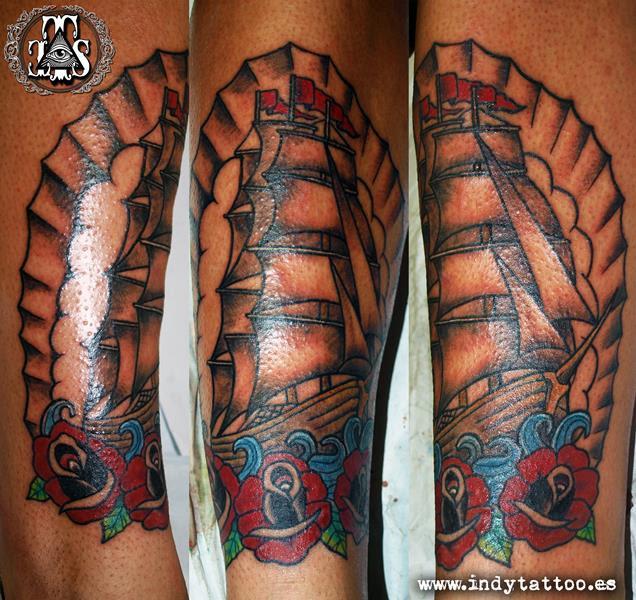 Barcos Tradicional Old School Indy Tattoo Tatuajes Online