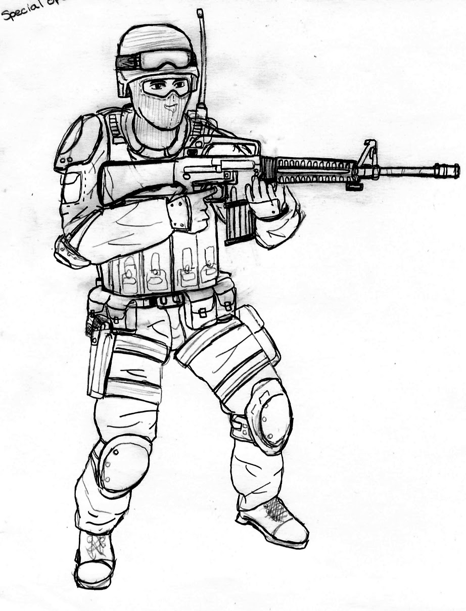Call Duty Coloring Pages Page 1