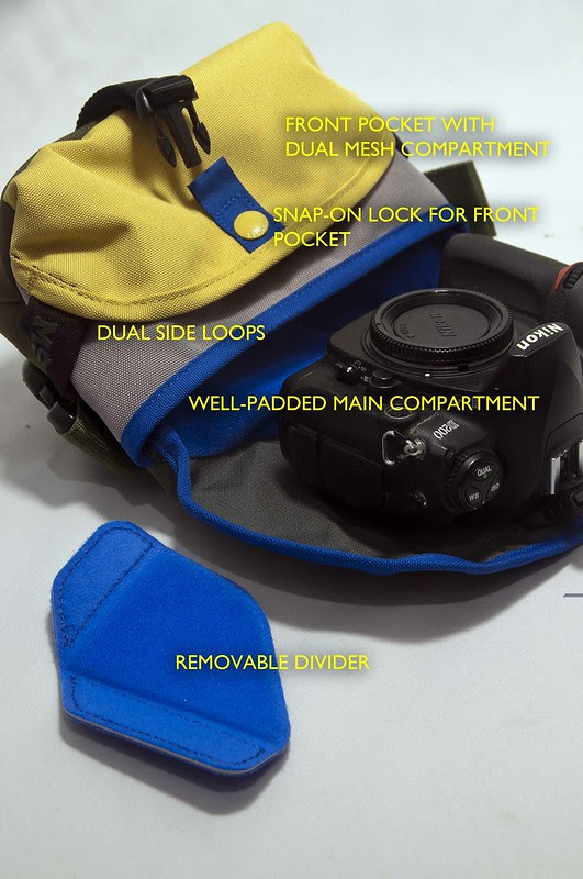 Crumpler - 3 Million Dollar Home with Nikon Body and Divider Shown with Labels