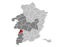 Vị trí của Nieuwerkerken in Limburg