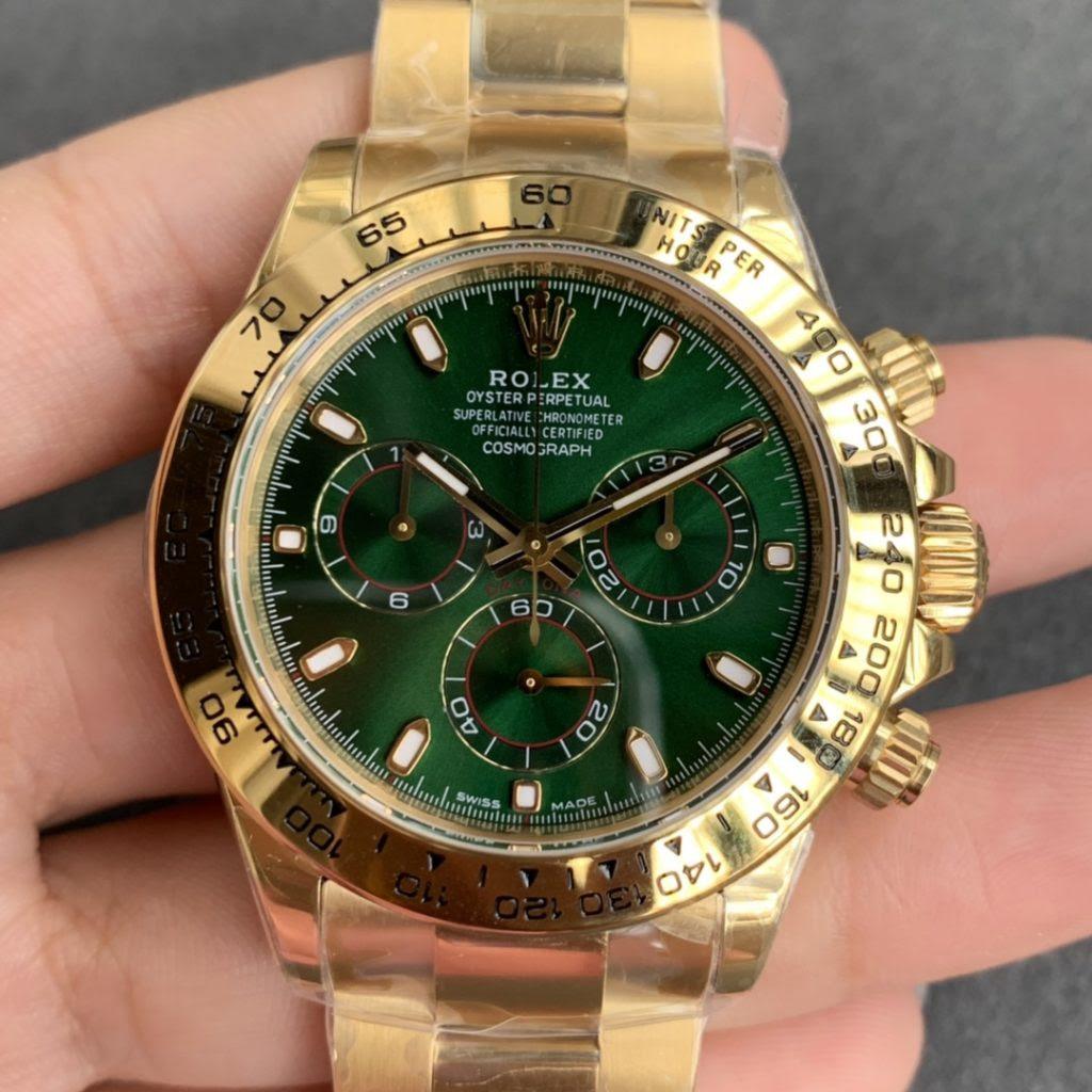 Noob Rolex Daytona Yellow Gold Green Dial