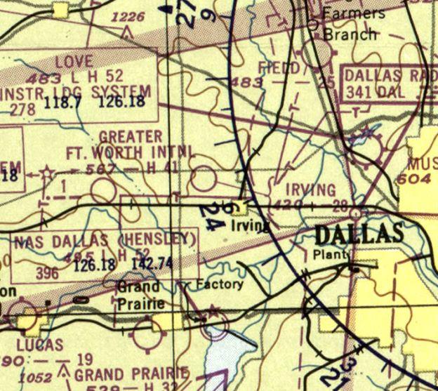 Dallas Area Airports Map
