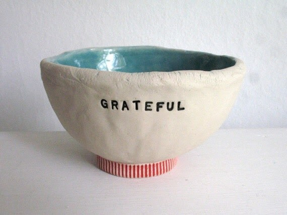GRATEFUL - THANK YOU bowl