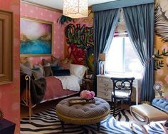Zebra Print Bedroom Ideas Pink and Black Wall ... | My Dream House