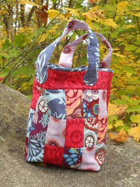 AMH fabric, patchwork bag